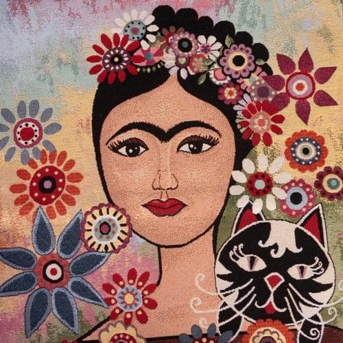 Frida in fiore - Tessuto Gobelin